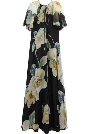 LANVIN Floral-print silk-chiffon gown