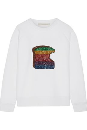 MARC JACOBS Sequin-embellished jersey sweatshirt