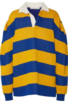 MARC JACOBS Oversized pleated striped jersey shirt