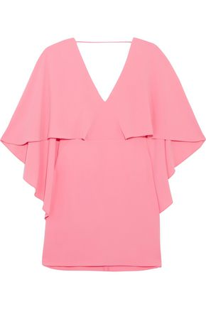 HALSTON HERITAGE Draped cady mini dress