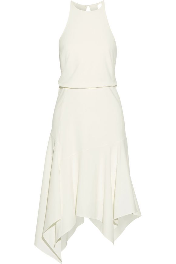 Asymmetric cutout stretch-crepe dress | HALSTON HERITAGE | Sale up to 70%  off | THE OUTNET