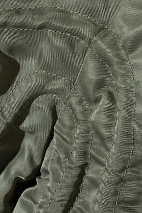 J.W.ANDERSON Cropped ruched satin-twill jacket