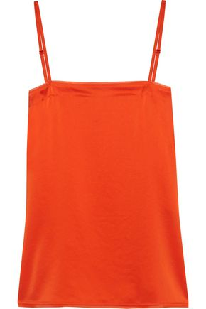 DKNY Georgette-trimmed  satin camisole