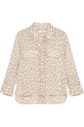 EQUIPMENT Leopard-print  washed-silk shirt