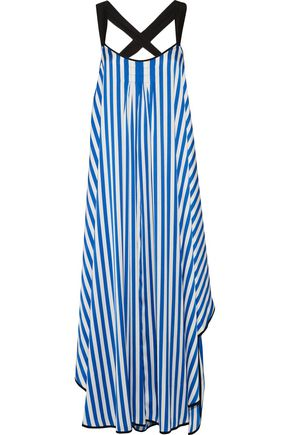BY MALENE BIRGER Shalana asymmetric striped satin maxi dress