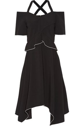 PROENZA SCHOULER Cold-shoulder crepe dress