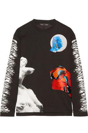 PROENZA SCHOULER Printed bonded cotton-jersey top