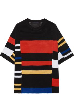 PROENZA SCHOULER Striped crochet-knit T-shirt