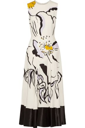 ROKSANDA Floral print silk-crepe midi dress