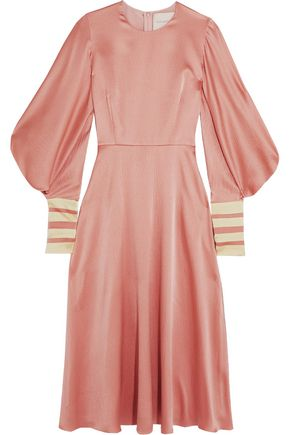 ROKSANDA Textured silk panelesd midi dress