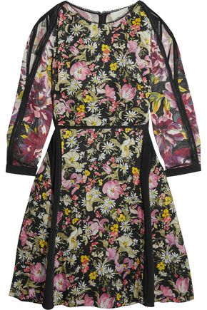 3.1 PHILLIP LIM Meadow Flower cold-shoulder printed silk-crepe dress