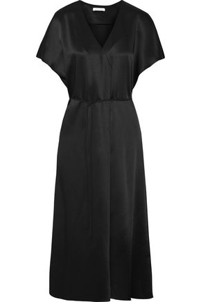 PROTAGONIST Wrap-effect satin midi dress