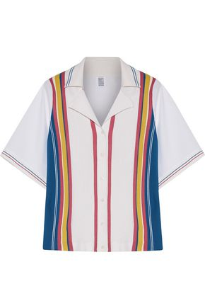 ROSIE ASSOULIN Striped knit and poplin shirt