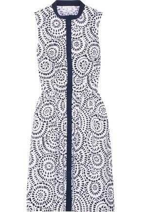 OSCAR DE LA RENTA Printed cotton-blend poplin dress