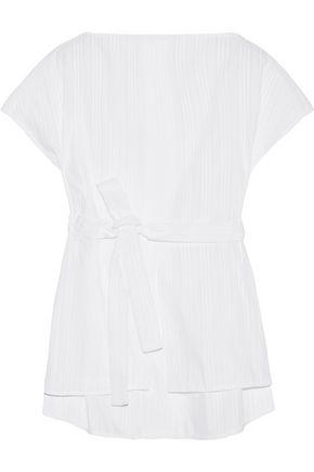 PROTAGONIST Striped cotton-poplin shirt