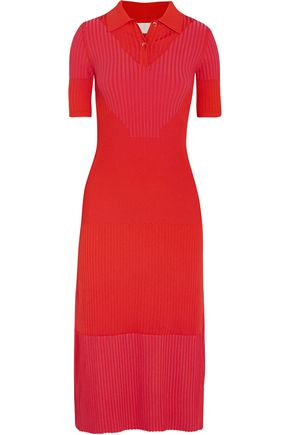 MAISON MARGIELA Two-tone rib-knit midi dress