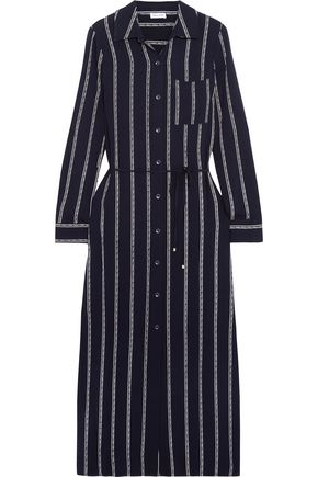 SPLENDID Striped voile midi dress