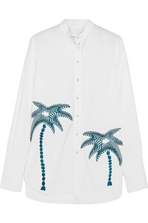 VICTORIA, VICTORIA BECKHAM Embroidered cotton shirt