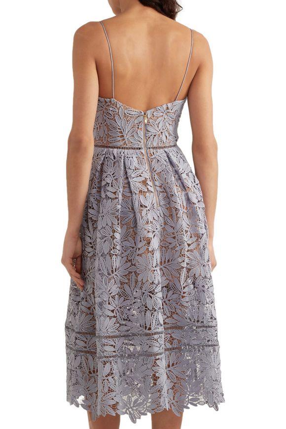 0facb7b3d3d52c Laelia guipure lace midi dress | SELF-PORTRAIT | Sale up to 70% off ...