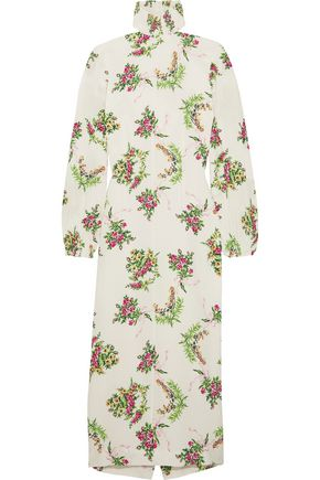 EMILIA WICKSTEAD Alison floral-print crepe turtleneck dress
