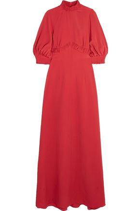 EMILIA WICKSTEAD Natasia gathered crepe maxi dress