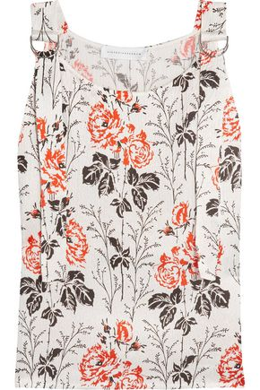 VICTORIA BECKHAM Floral-print crepon top