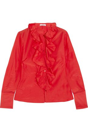 TOME Ruffled poplin shirt