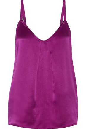 VINCE. Crepe-satin camisole