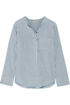 VINCE. Striped silk shirt