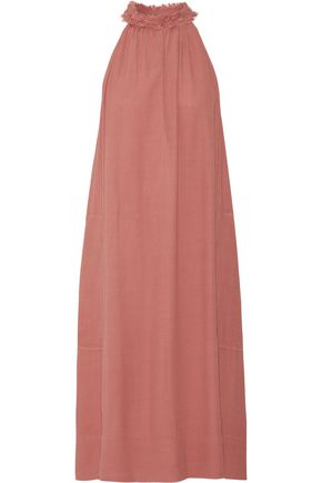 RAQUEL ALLEGRA Frayed crepe dress