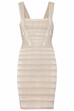 HERVÉ LÉGER Metallic bandage mini dress