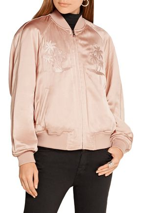 ALEXANDER WANG Embroidered satin bomber jacket