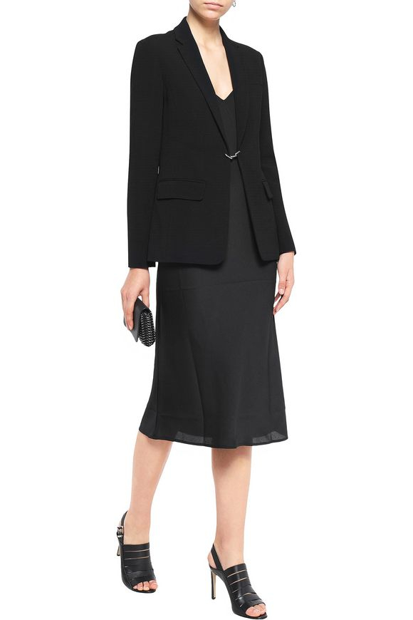 Chain-embellished crepe blazer | ALEXANDER WANG | Sale up to 70% off | THE  OUTNET