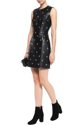 ALEXANDER WANG Studded leather mini dress