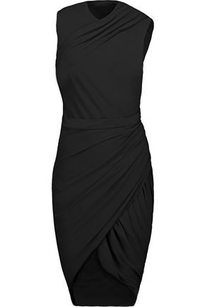 ALEXANDER WANG Draped stretch-jersey dress