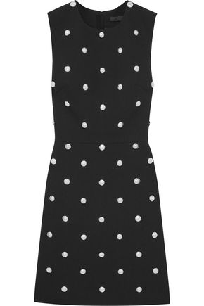 ALEXANDER WANG Studded crepe mini dress
