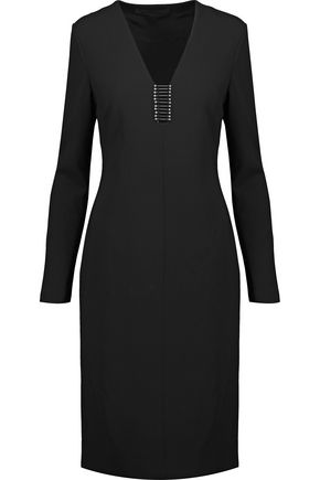 ALEXANDER WANG Embellished crepe dress