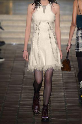 ALEXANDER WANG Embellished tweed dress
