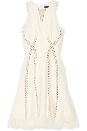 ALEXANDER WANG Embellished tweed dress