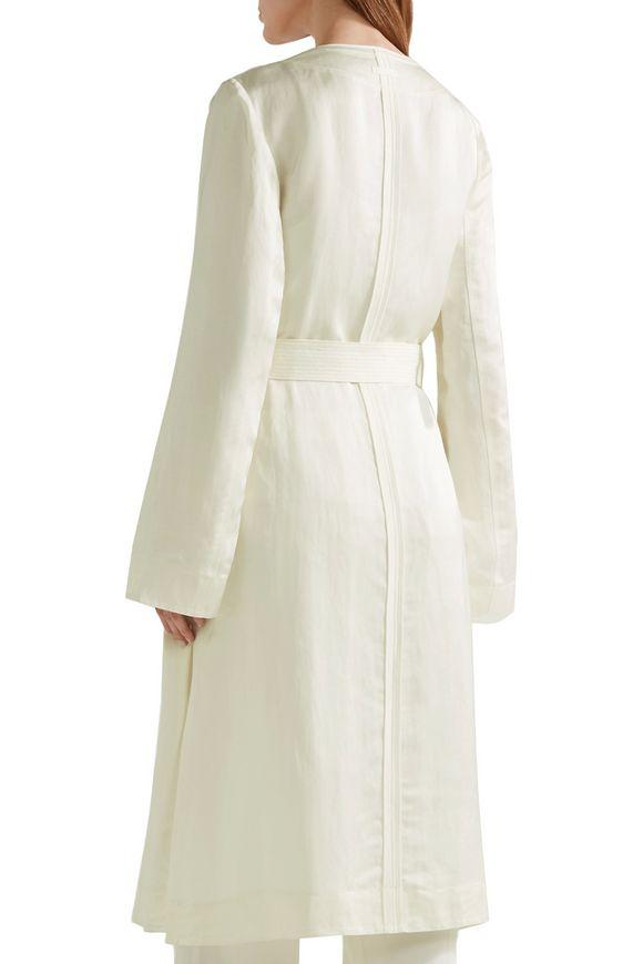Archer belted linen-blend jacket | ELIZABETH AND JAMES | Sale up to 70% off  | THE OUTNET