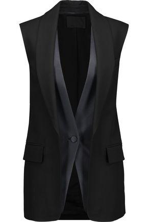 ALEXANDER WANG Satin-trimmed crepe vest