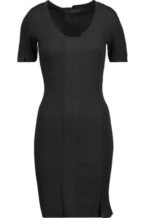 ALEXANDER WANG Paneled merino wool-blend mini dress