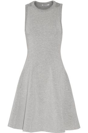 T by ALEXANDER WANG Pleated marled ponte mini dress