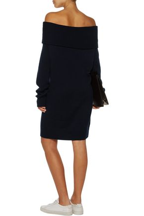 T by ALEXANDER WANG Off-the-shoulder wool and cashmere-blend sweater dress