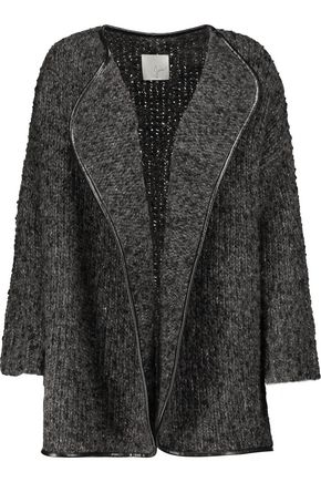 JOIE Bouclé-knit wool-blend jacket
