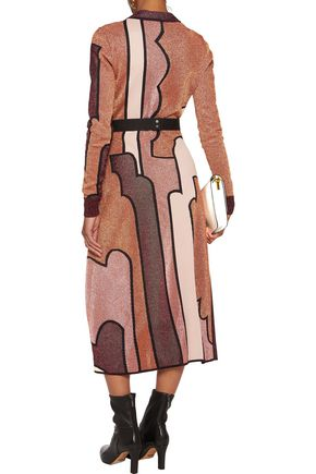ROKSANDA Allington metallic intarsia-knit midi dress