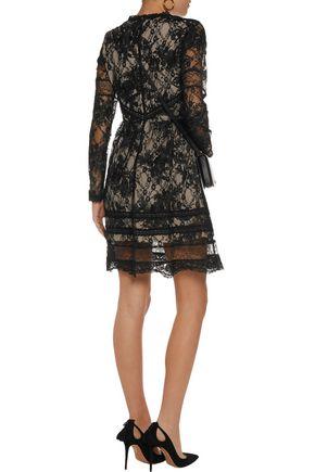 ALICE + OLIVIA Janae corded lace mini dress
