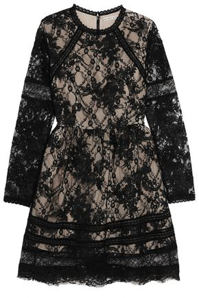 ALICE + OLIVIA Janae corded lace mini dress