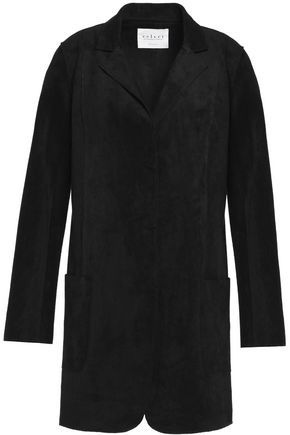 VELVET by GRAHAM & SPENCER Paneled faux suede jacket
