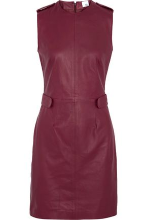 IRIS & INK Jerry leather mini dress